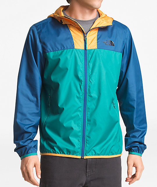 a5dd37695 The North Face Cyclone 2 Teal, Blue & Yellow Windbreaker Jacket