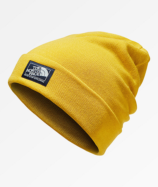The North Face Doc Worker Leopard Yellow Beanie  20c980650a6