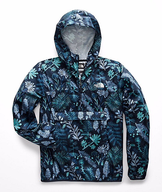 a9126a8c0 The North Face Fanorak Navy Woodland Floral Anorak Jacket