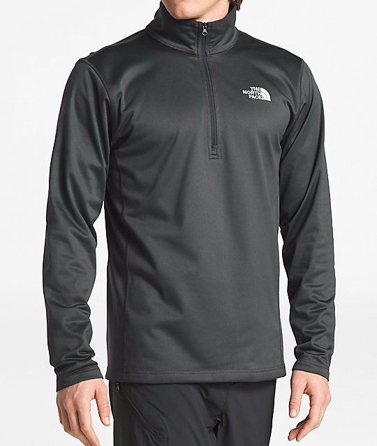 The North Face Glacier Quarter Zip Grey Tech Fleece Sweatshirt