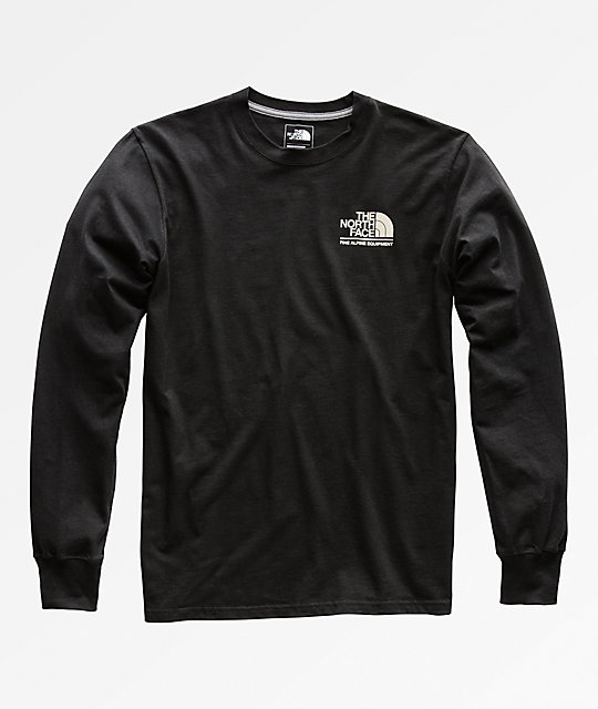 d8813188b The North Face Gradient Logo Black Long Sleeve T-Shirt