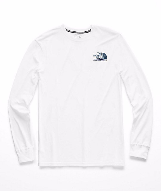 22d726b99 The North Face Gradient Logo White Long Sleeve T-Shirt