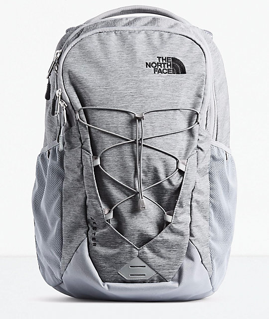 The North Face Jester Mid Grey Dark Heather & Black Backpack