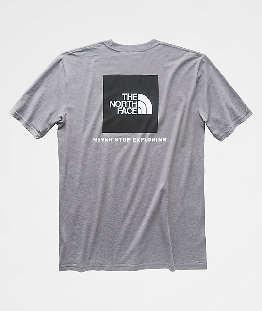 1f15f7737 The North Face Red Box Grey & Black T-Shirt