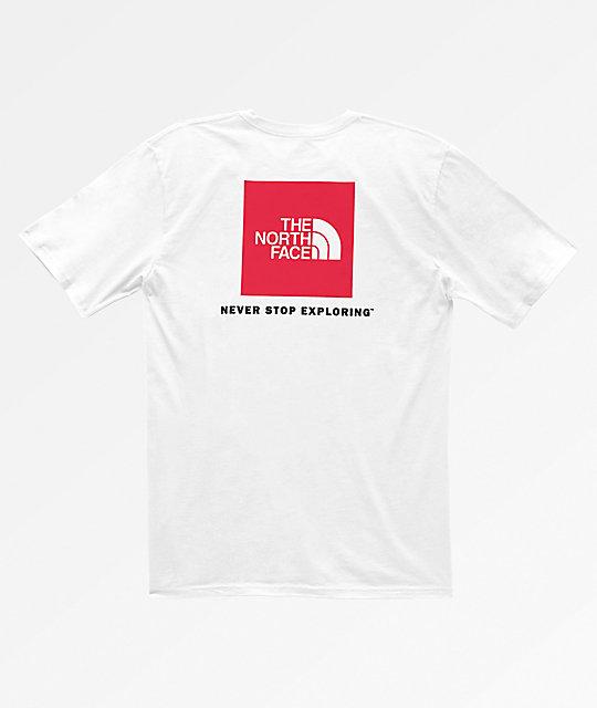 The North Face Red Box White T-Shirt  49e7a5c5b