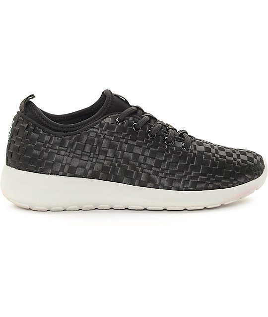 The People's Movement Cardiff Black Webbed Womens Shoes