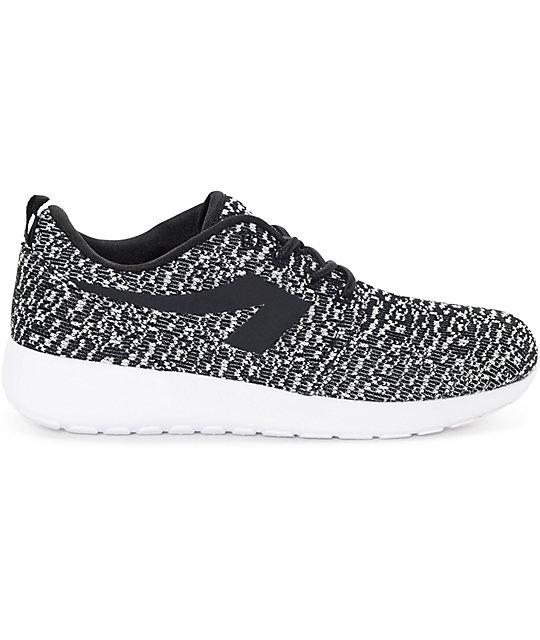 The People's Movement Crescent Black & White Knit Womens Shoes