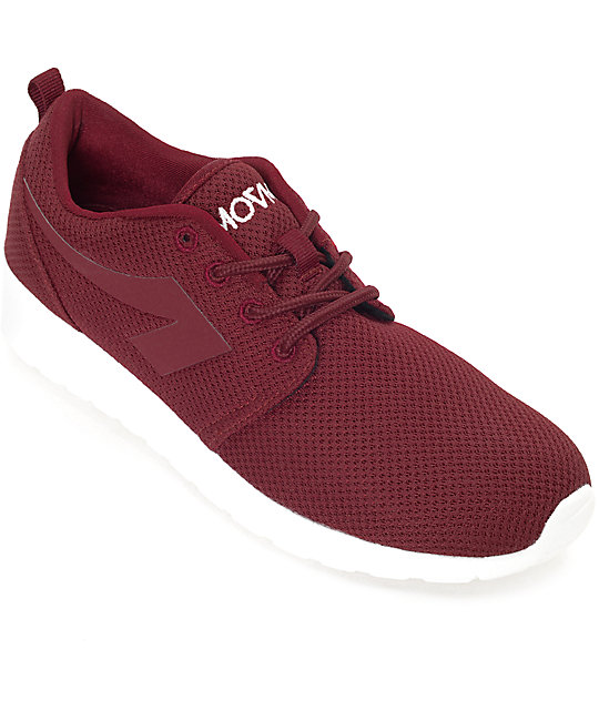The People's Movement Crescent Burgundy Mesh Womens Shoes