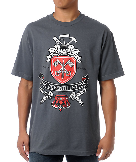 The Seventh Letter Royalty Charcoal T-Shirt
