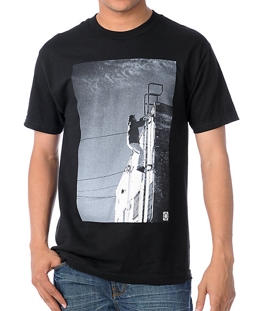 The Seventh Letter Stairway To Heaven Black T Shirt | Zumiez