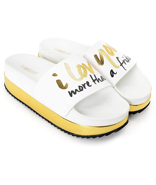 1ac22f2f736c6f TheWhiteBrand Friday Platform Slide Women s Sandals