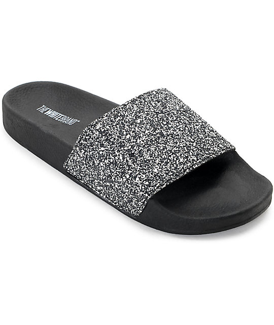 23f29ebe99755 TheWhiteBrand Multi Glitter Slide Women s Sandals
