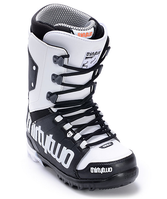 Thirtytwo Lashed Black & White Mens Snowboard Boots