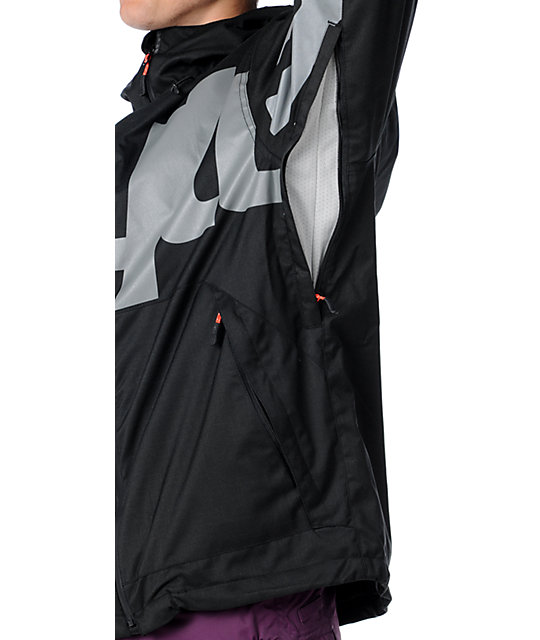 Thirtytwo Lowdown Black Mens Snowboard Jacket