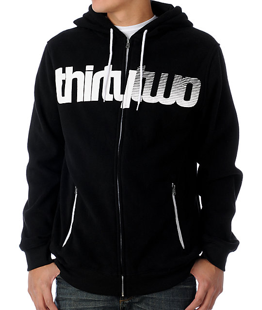 Thirtytwo Ruffneck Black Tech Fleece Jacket