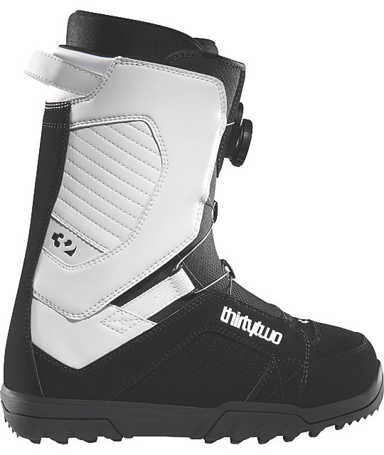 Thirtytwo STW BOA Black & White Mens Snowboard Boots