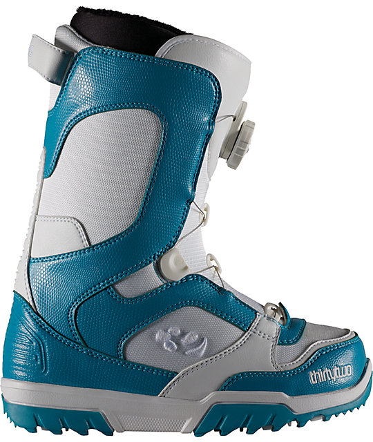 Thirtytwo STW Boa White & Green Womens Snowboard Boots