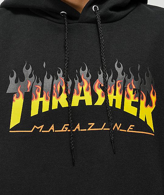 8172842c3c Thrasher BBQ Flame Black Hoodie | Zumiez
