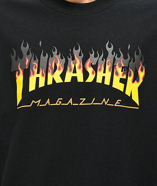 Thrasher BBQ Flame Black T-Shirt