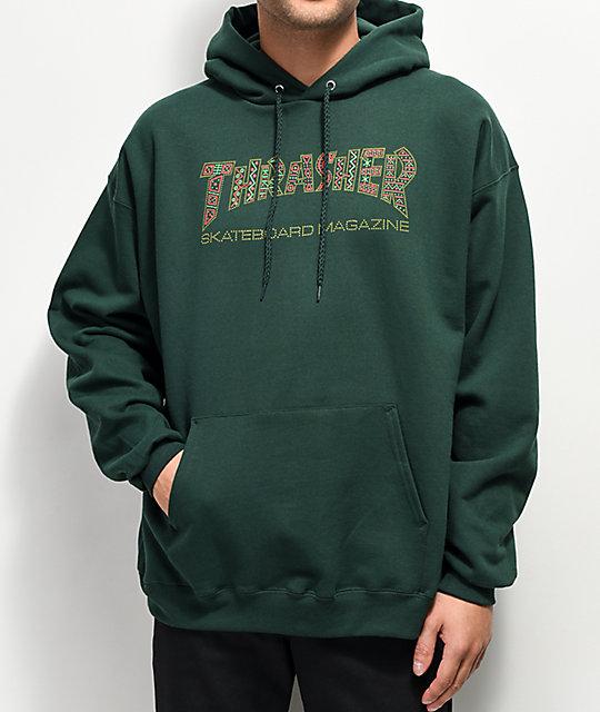 5e07fb8acd99 Thrasher Davis Forest Green Hoodie