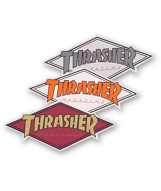 d431c63f24ae Thrasher Diamond Logo Assorted Sticker
