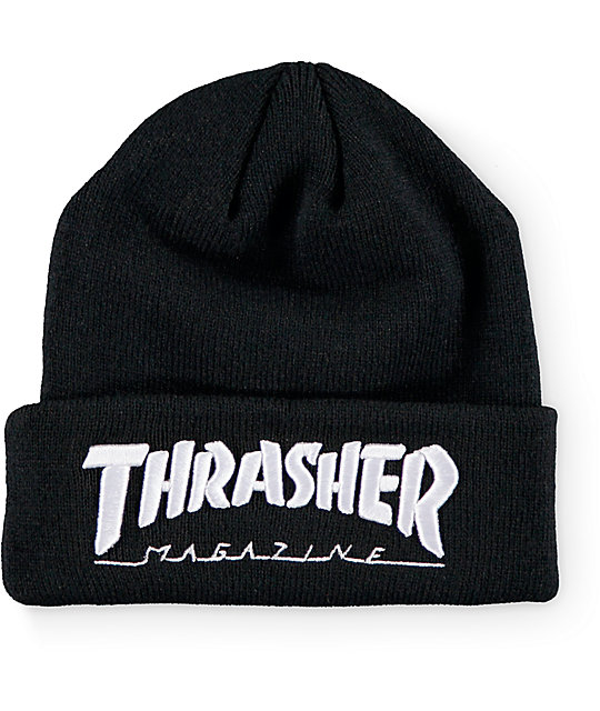 Thrasher Embroidered Logo Black Beanie  463f0303fb3