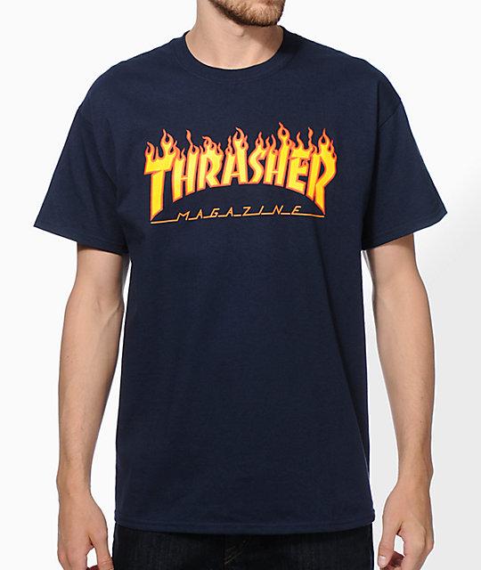 b3325728639 Thrasher Flame Logo T-Shirt