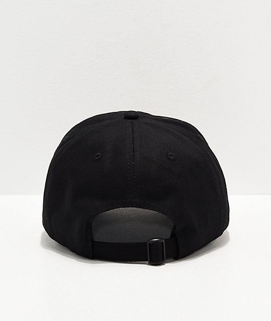 Thrasher Flame Old Timer Black Strapback Hat