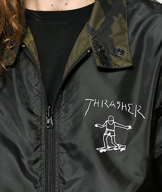 Thrasher Gonz Reversible Camo & Black Coaches Jacket