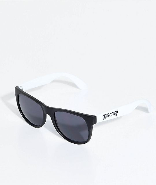 Thrasher Logo White Sunglasses