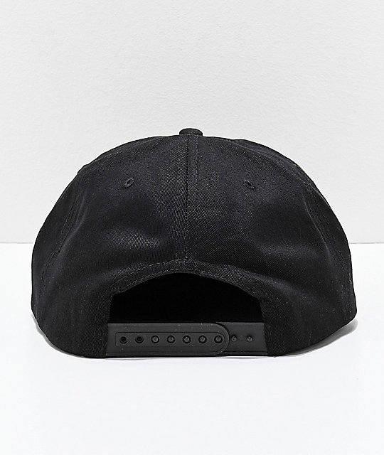 Thrasher Outlined Black Snapback Hat