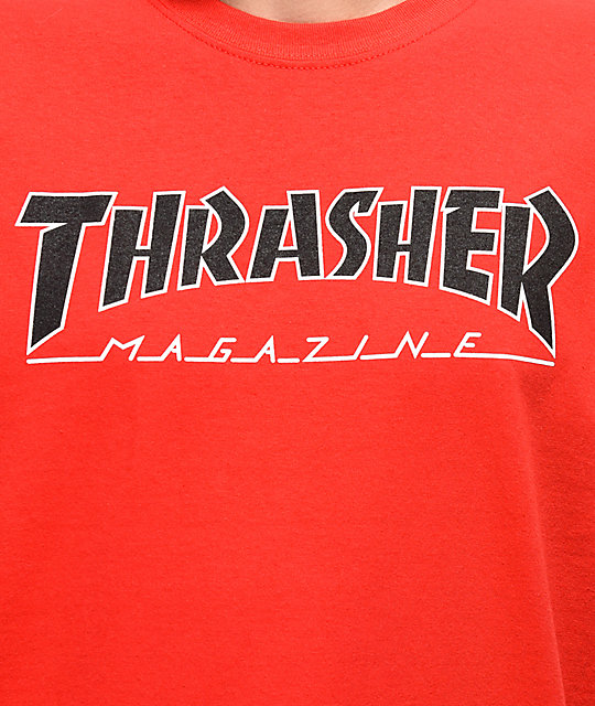 Thrasher Outlined Red T-Shirt