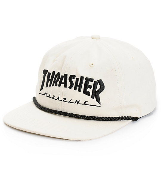 Thrasher Rope Canvas Snapback Hat  1c53f87d9fa0