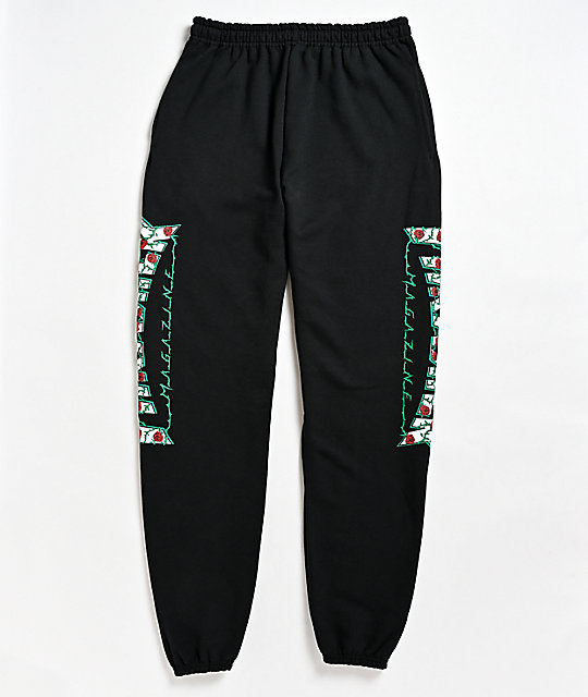 Thrasher Roses Black Sweatpants