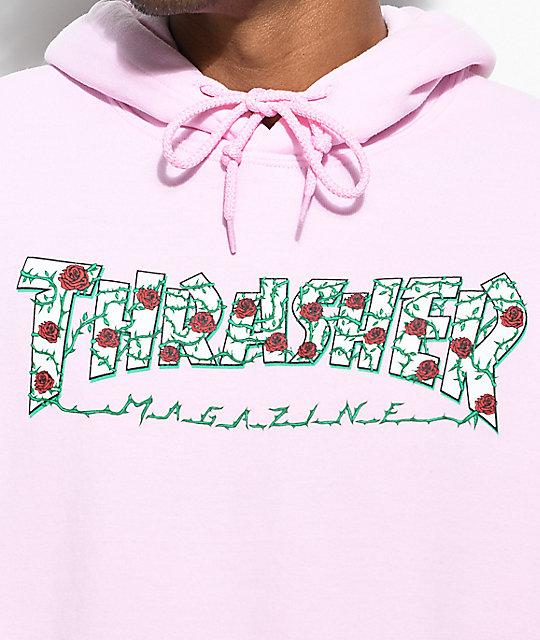 ... Thrasher Roses Pink Hoodie 4b3fc5b905