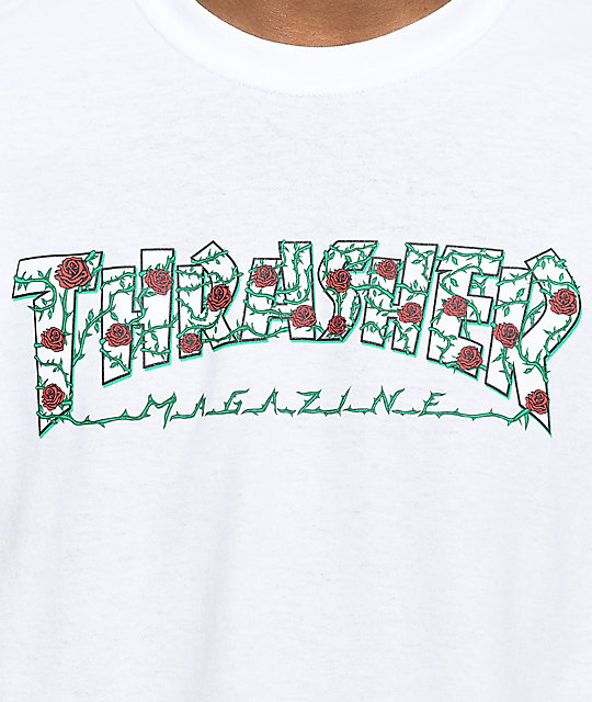 Thrasher Roses White T-Shirt