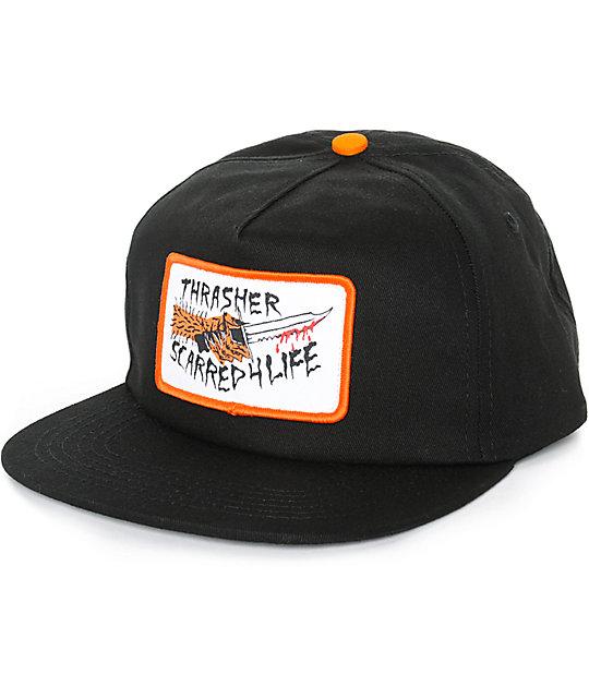 6f6b1c6cc8a Thrasher Scarred 4 Life Snapback Hat