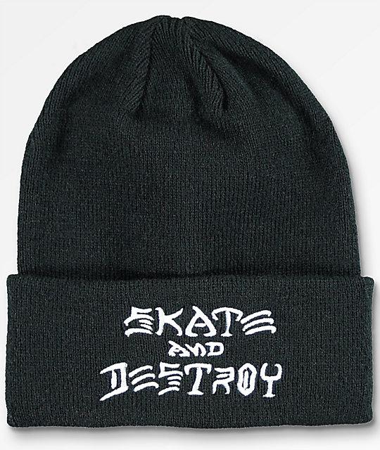25b123422f7 Thrasher Skate And Destroy Black Beanie