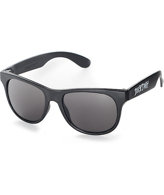 3706f2b64355 Thrasher Skate And Destroy Black Sunglasses | Zumiez