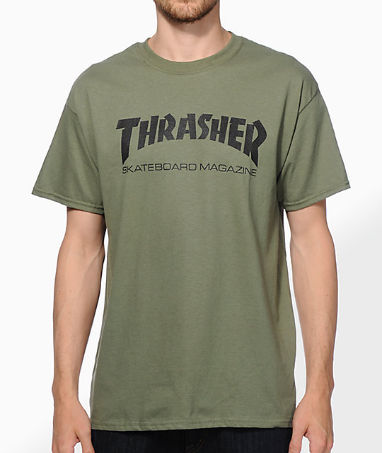 0946c419693b Thrasher Skate Mag Army Green T-Shirt