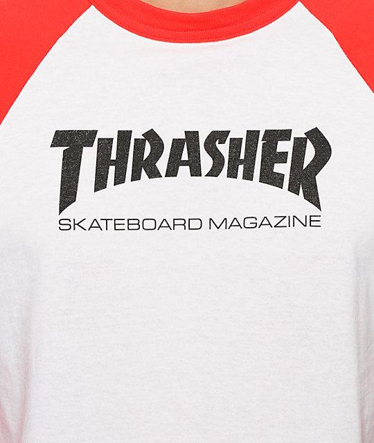 41fff9916fbf Thrasher Skate Mag Baseball T-Shirt | Zumiez