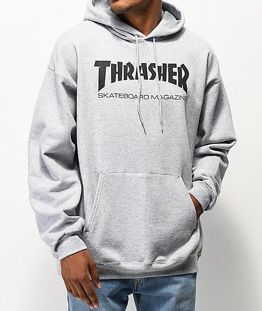 ce466b6b7ded Thrasher Skate Mag Grey Hoodie