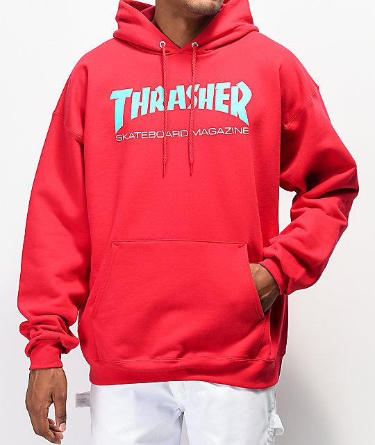 5b562f889 Thrasher Skate Mag Radical Red Pullover Hoodie