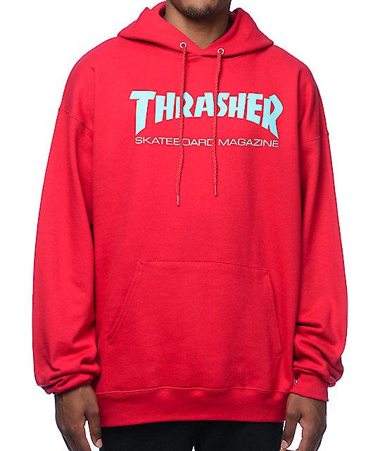 Thrasher Skate Mag Radical Red Pullover Hoodie  40ece665e