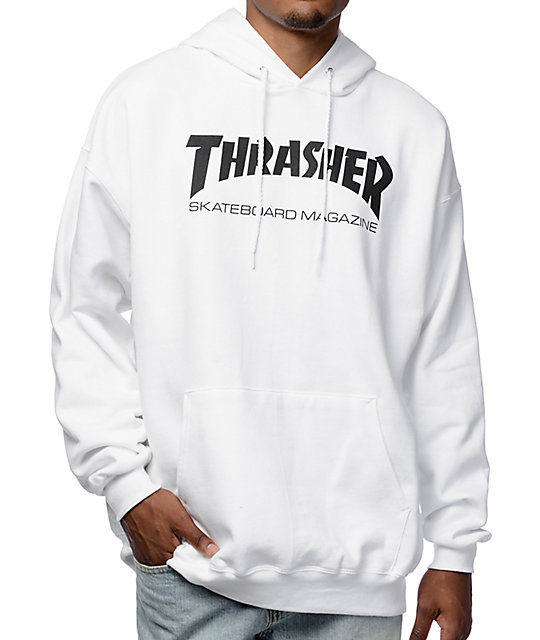 257d34cee021 Thrasher Skate Mag White Pullover Hoodie