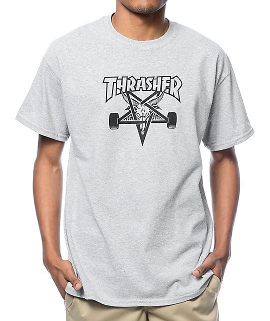 f9f0998f2821 Thrasher Skategoat Heather Grey T-Shirt