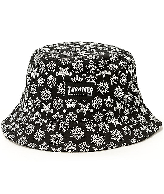 a98e03c7434 Thrasher Skategoat Holiday Bucket Hat