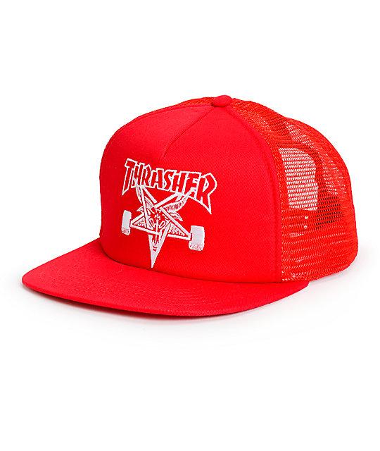 82ee54db803b Thrasher Skategoat Red Trucker Hat