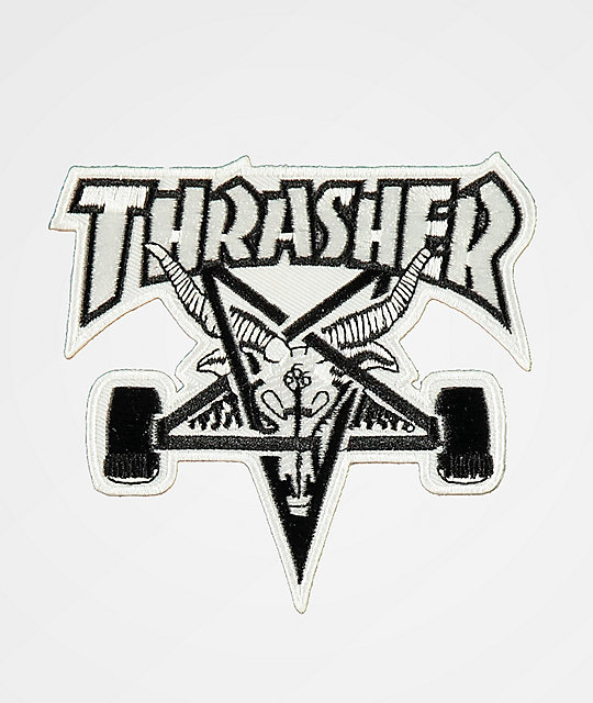 Thrasher Skategoat White & Black Patch