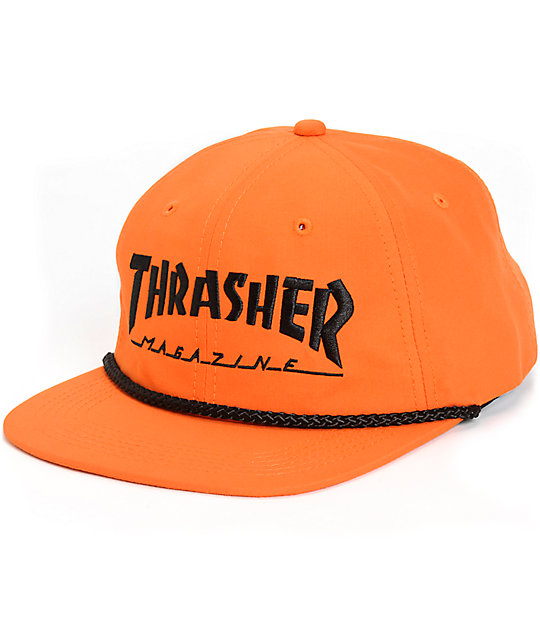 fd4470cad4442 Thrasher Structureless Rope Snapback Hat